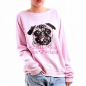 Wildfox Waiting for the weekend sweater Dog large